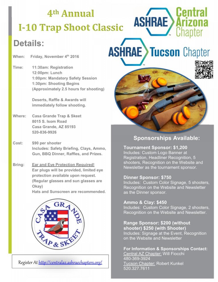 ASHRAE, 4th Annual I-10 Trap Shoot Classic @ Casa Grande Trap & Skeet | Casa Grande | Arizona | United States