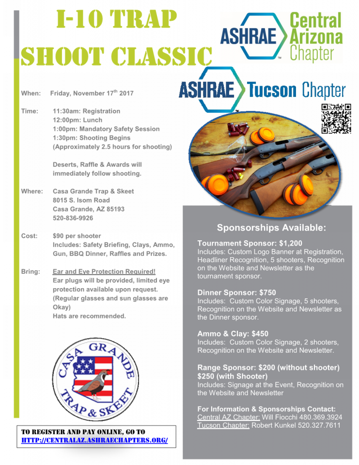 5th Annual Arizona ASHRAE Trap Shoot with Tucson Chapter @ Casa Grande Trap & Skeet | Casa Grande | Arizona | United States